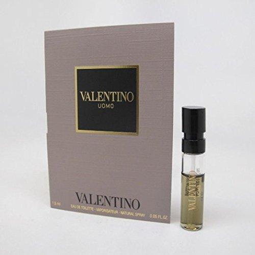 3 Valentino Uomo EDT Spray Vial Travel Sample Cologne .05oz/1.5 Ml Each Lot (0.05 Ounce Edt)