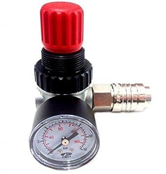Regulador de presión con manómetro y 970 Fiac rubineto de línea para compresores de aire: Amazon.es: Deportes y aire libre