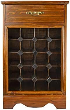 PierSurplus Wine Rack – Wood Cabinet with Counter and Drawer, Hold 20 Bottles Product SKU HD223524