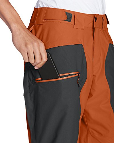 Eddie Bauer Mens Telemetria Pantaloni Freeride Arancione Vivace (arancione)
