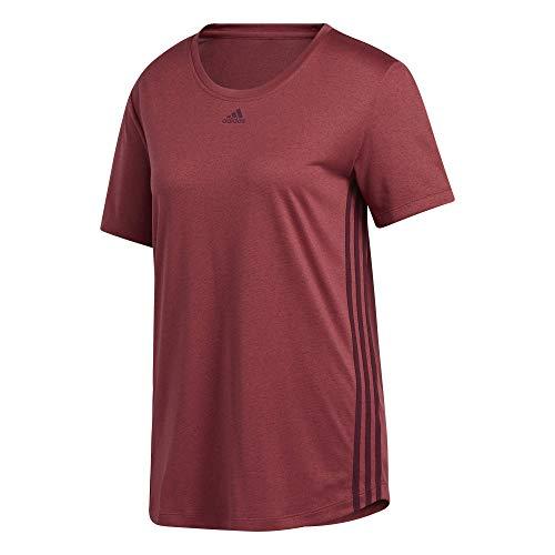adidas T-shirt voor dames met 3 strepen