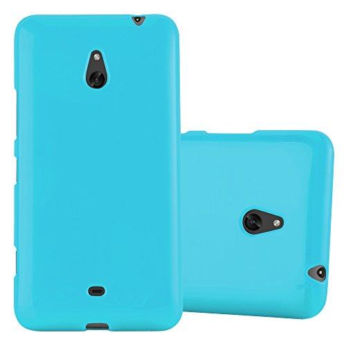Cadorabo – TPU Ultra Slim Jelly Silicone cover for > Nokia Lumia 1320 < – Etui Cover Protection Bumper Skin in JELLY-LIGHT-BLUE