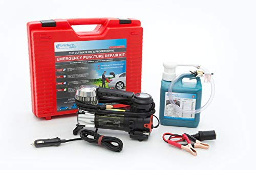Air Compressor Includes Bulbs Wheel Brace Wrench XtremeAuto/® Emergency Breakdown Tool Kit Tyre Repair Kit