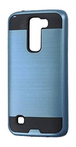 Asmyna Cell Phone Case for LG K7 (Tribute 5) - Retail Packaging - Black/Blue