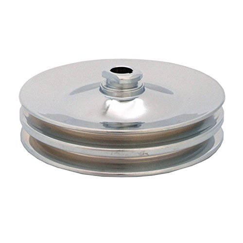 Spectre Performance 4487 Chrome Double Belt Power Steering Pulley for GM Chrome Belt Pulley