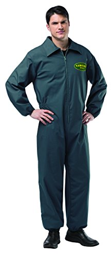 Rasta Imposta Men's Breaking Bad Vamanos Pest Control Jumpsuit, Black, One Size]()