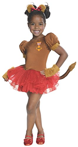 Rubies Wizard of Oz 75th Anniversary Collection Cowardly Lion Tutu Dress Costume, Toddler
