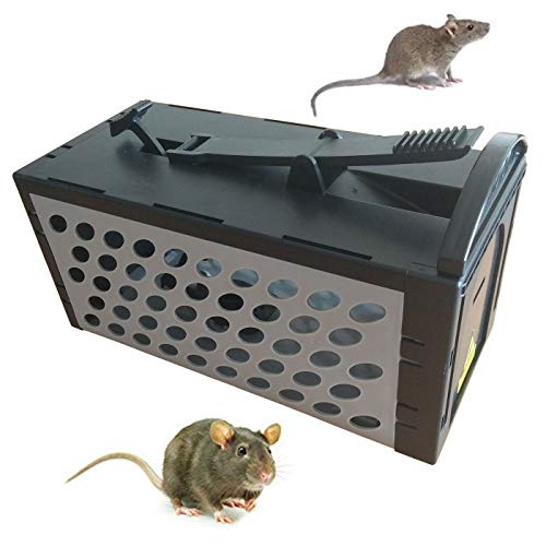 - Live Animal Humane Trap Catch for Mouse,Chipmunk,Rats,Squirrels, Voles,Rodent and Similar Size Pests,Control Catch Bait,Easy to Set,Safe Around Children and Pets(9.5