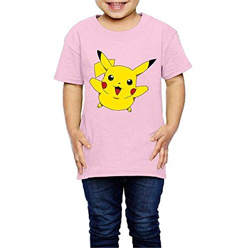 Children Pikachu Cute Happy Jump Custom Printed Tees T Shirts