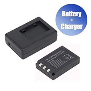 Battpit™ New Digital Camera Battery + Charger Replacement for Olympus Camedia C-60 Zoom (1100 mAh)