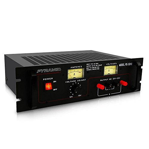 Pyramid Bench Power Supply | AC-to-DC Power Converter | 50 Amp Power Supply with Adjustable Voltage Control | Rack Mount (PS52KX) (Power Supply Pyramid)