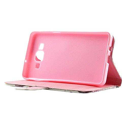 Funda Iphone, Forme a señora el patrón Diamante Encrusted la caja horizontal del cuero del tirón con las ranuras del sostenedor y de la tarjeta para la galaxia A5 / A500 de Samsung ( SKU : S-SCS-5846A S-SCS-5846E