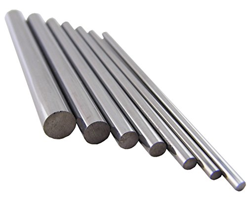 Wokesi 8mm Diameter,3.93''(100mm)Overall Length,Pack of 1,HRC55,Round Micro Solid Tungsten Steel Rod Boring Bar For Burin CNC Endmill Lathe Router Bits Drills Burrs Maker (1pc 8.0*100mm HRC55)