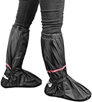 Waterproof Rain Boot Shoe Covers - Non Slip Reusable Motorcycle Riding Camping Fishing Rain Gear Full Overshoe