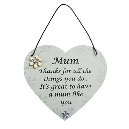 Botrong Wooden Hanging Plaque Board Mother's Day Holiday Home Wall Ornament Gifts...