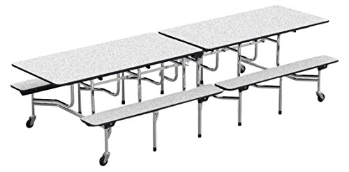Virco MTB172910-GRY091BLK01  MT Series Mobile Bench Table, 120