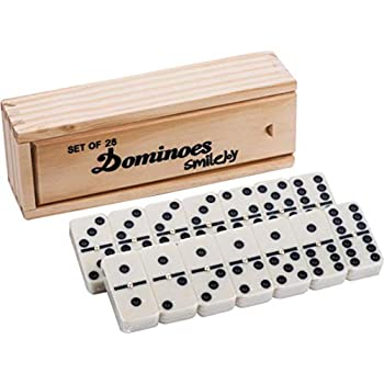 Smilejoy Classical Double 6 Dominos Game Set with Spinner 28pcs (2-4 Players)