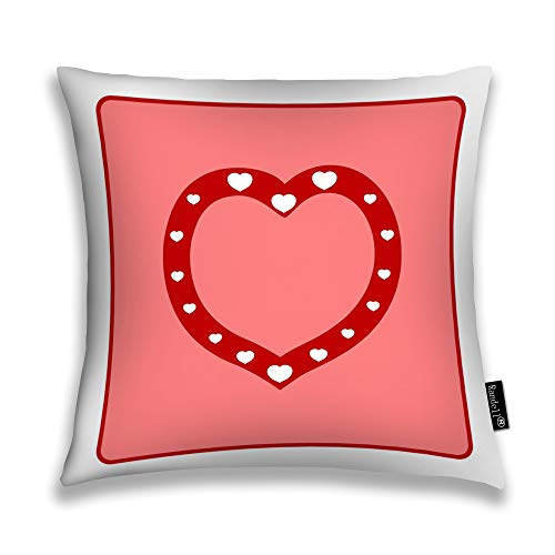 Randell Throw Pillow Covers Heart As Symbol of Linked Join Love Home Decorative Throw Pillowcases Couch Cases 18
