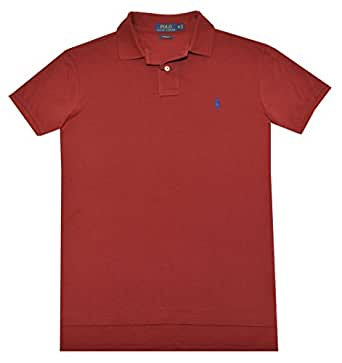 Polo Ralph Lauren Men Custom Fit Mesh T-shirt (S, Red) at