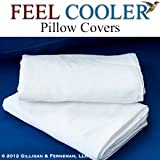 Cooling Pillow Cover (Standard) - By Feel Cooler® - 30 Day Return Guarantee.