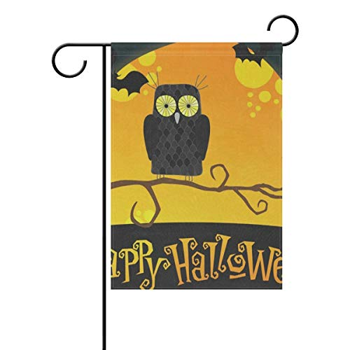 lightly Sweet Home Garden Flag Vertical Double Sided Spring Summer Cute Halloween Woth Owl Outdoor Yard Flags Decorative 12x18 -