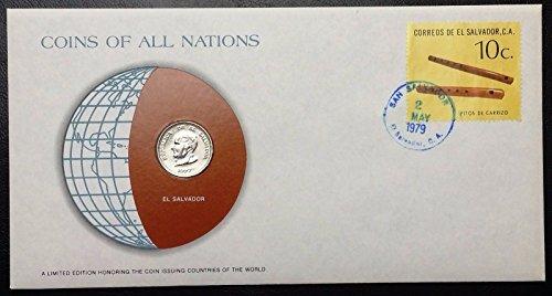 Coins of All Nations Series - 1977 El Salvador 50 Centavos - Sealed in Card - BU
