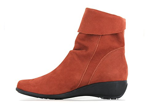 Mephisto Unito Womens 4 Rust Boots Regno Seddy Nubuck SrFgqSw