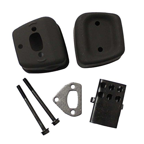 Qauick New Pack of Exhaust Muffler + Gasket + 2 Bolts for Husqvarna 36 41 136 137 141 142 Chainsaw Replaces 545006044