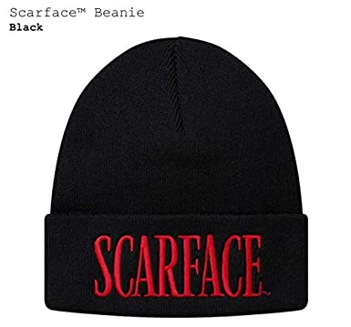 6b5ed1f03375 Amazon.com: SupremeNewYork Supreme Scarface Beanie Black FW17 100%  Authentic Real Sold Out Rare: Clothing