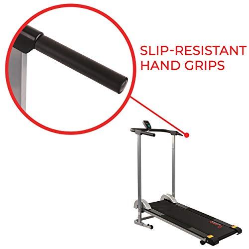 Sunny Health & Fitness SF-T1407M Manual Walking Treadmill, Gray by Sunny Health & Fitness (Image #4)