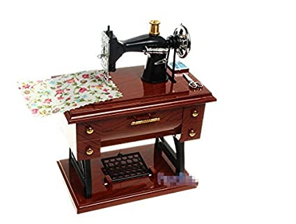 Amazon Mechanical Classical Sewing Machine Music Box by Jacki Awesome Sewing Machine Music Box