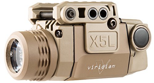 Weapons Universal - Viridian Universal X5L-FDE Green Laser with Tactical Light, Flat Dark Earth