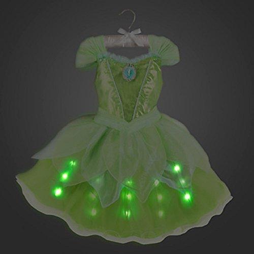 Tinker Bell Dress (DISNEY STORE TINKER BELL TINKERBELL LIGHT-UP COSTUME DRESS ~ FAIRY ~ 2016 (9/10))