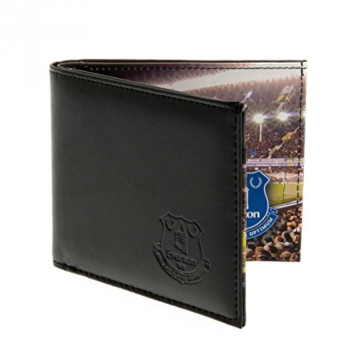 Stadium Wallet Club Crest On The Cover Pitch Panoramic View Folded Everton