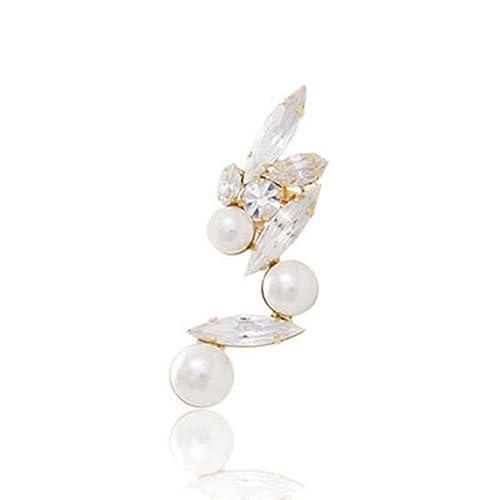 e393ec11ba8fa HuntGold 1X Women Girl Lady Earring Crystal Alloy Gold Edge Ear Cuff Ear  Lobe Spike Stud