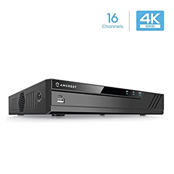 Image of Amcrest 4K NV4116-HS (16CH 720P/1080P/3MP/4MP/5MP/6MP/8MP/4K) Network Video Recorder - Supports up to 16 x 8-Megapixel IP Cameras, Supports up to 6TB Hard Drive (Not Included) (No PoE Ports Included) Surveillance Video Recorders