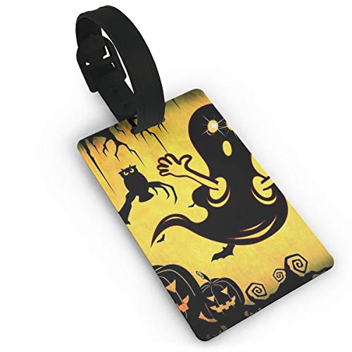 Halloween Surpries Luggage Tags, Travel Luggage Labels for Luggage Suitcases Bags,Business Card Holder Travel ID Bag Tag ()