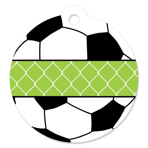 Soccer Bag Tag - Goaaal - Soccer - Baby Shower or Birthday Party Favor Gift Tags (Set of 20)