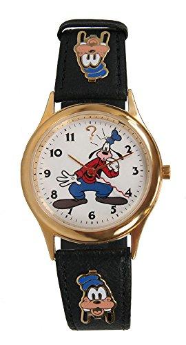 (Pedre Classic Unisex Gold-Tone Disney Goofy Watch )