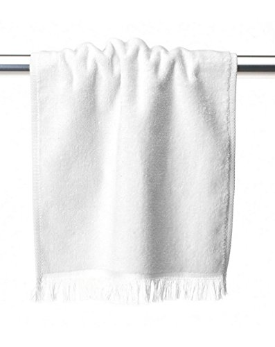 (Towels Plus T600 by Anvil Fringed Fingertip Towel White One Size)