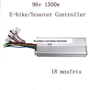 18 MOSFET 96 V 1500 W Hub motor sin escobillas controlador de ...