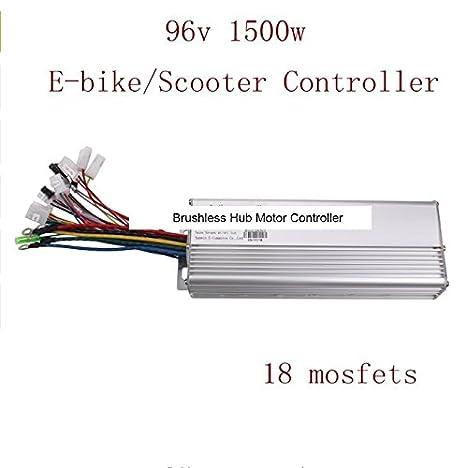 18 Mosfets 96V 1500W Brushless Hub Motor Controller for E