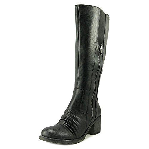 DALLIA Bare Toe Traps 2 Closed Boots Womens Riding Calf Black Mid EnfFFxqdrw