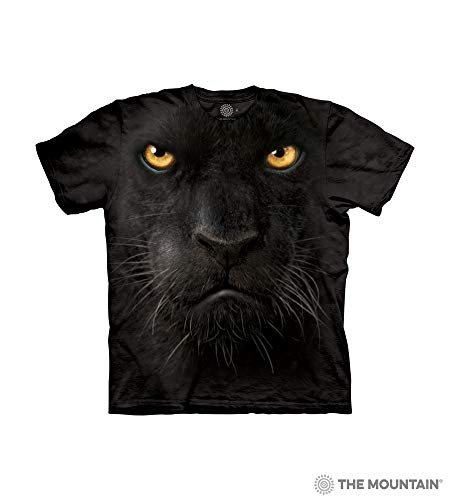 Face Panther (The Mountain Blk Panther Face Child T-Shirt, Black, XL)