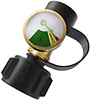 DozyAnt Propane Tank Gauge Level Indicator Leak Detector Gas Pressure Meter Universal for RV Camper, Cylinder, BBQ Gas Grill, Heater and More Appliances-Type 1 Connection
