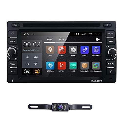 "6.2"" inch Android 8.1 Double Din in Dash Radio Car Video Receiver DVD Player Bluetooth WiFi 4G GPS Navigation System Rear Camera"