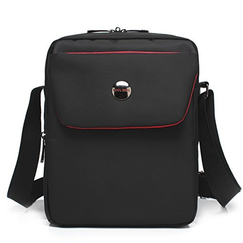 CoolBell® 26,92 cm bolso de hombro de tela bolso bandolera iPad estuche de transporte bolso de mano con vestir Oxford...