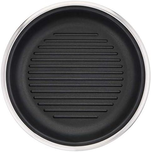 Lagostina - 12143930526 - Maestria Poêle Grill 26 cm Inox Anti-Adhésive Tous Feux Dont Induction (Vendue sans poignée)