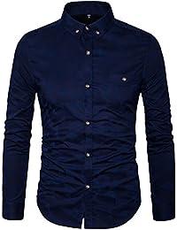 Mens Printed Casual Button Down Shirt-Cotton Long Sleeve Regular Fit Dress Shirt
