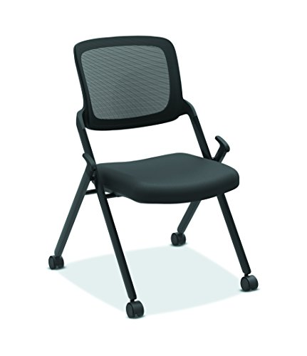 (HON Assemble Mesh Back Nesting Chair - Armless Stacking Chairs, Pack of 2 (HVL304))